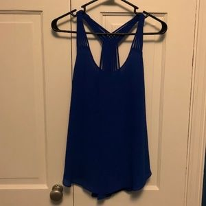 Blue Strappy Back Tank Top